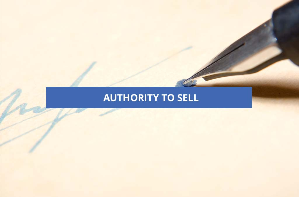 Authority to Sell