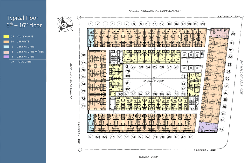 Floor Plan - 6th to 16th